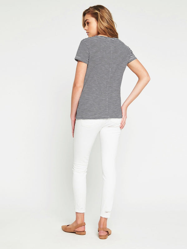 India Short Sleeve T-Shirt Midnight White Stripe - Mavi Jeans
