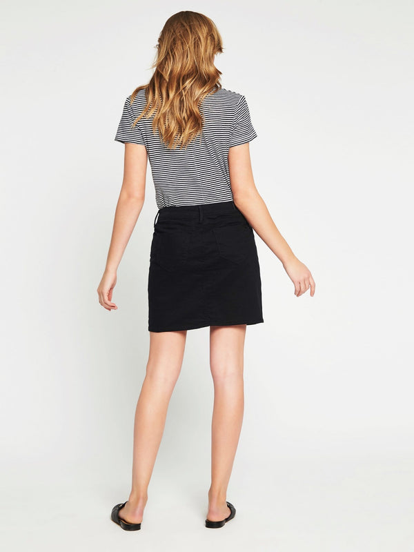 Alice A Line Skirt in Black Gold - Mavi Jeans