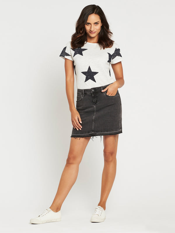 Alice A Line Skirt in 90's Smoke Western - Mavi Jeans