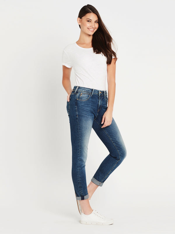 Emma Slim Boyfriend Jeans in Dark Paris Glam - Mavi Jeans