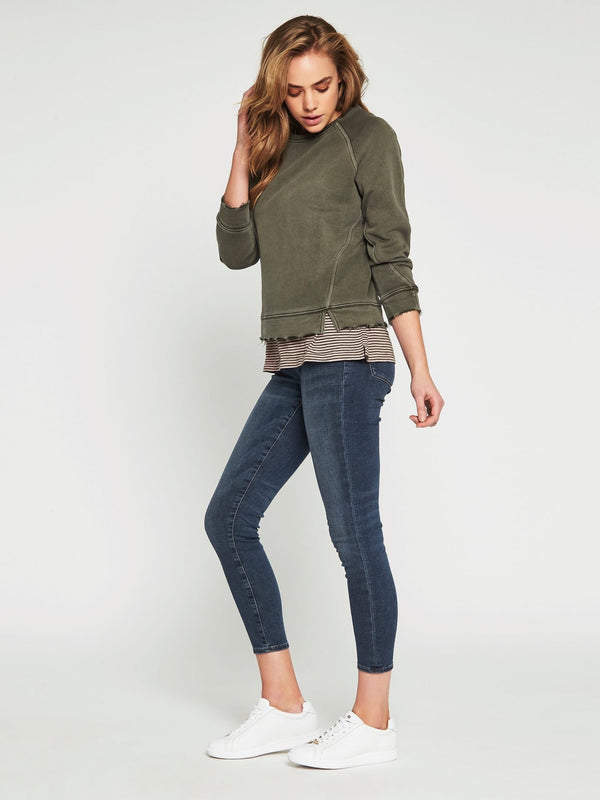 Kerrith Long Sleeve Sweat Washed Military - Mavi Jeans