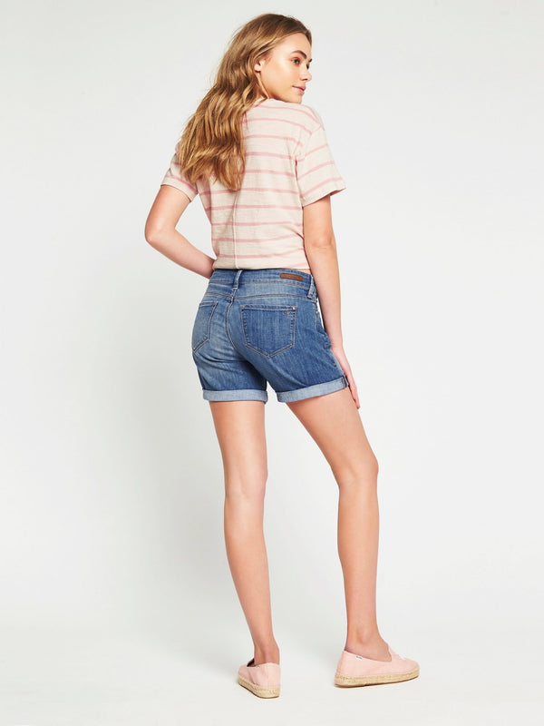Pixie Boyfriend Shorts in Sea Blue Tribeca - Mavi Jeans