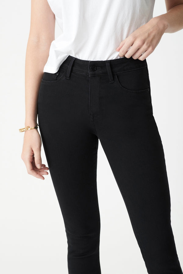 Alissa Skinny Jeans in Black Brushed Supersoft - Mavi Jeans