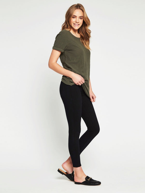 Evie Short Sleeve T-Shirt Washed Military - Mavi Jeans