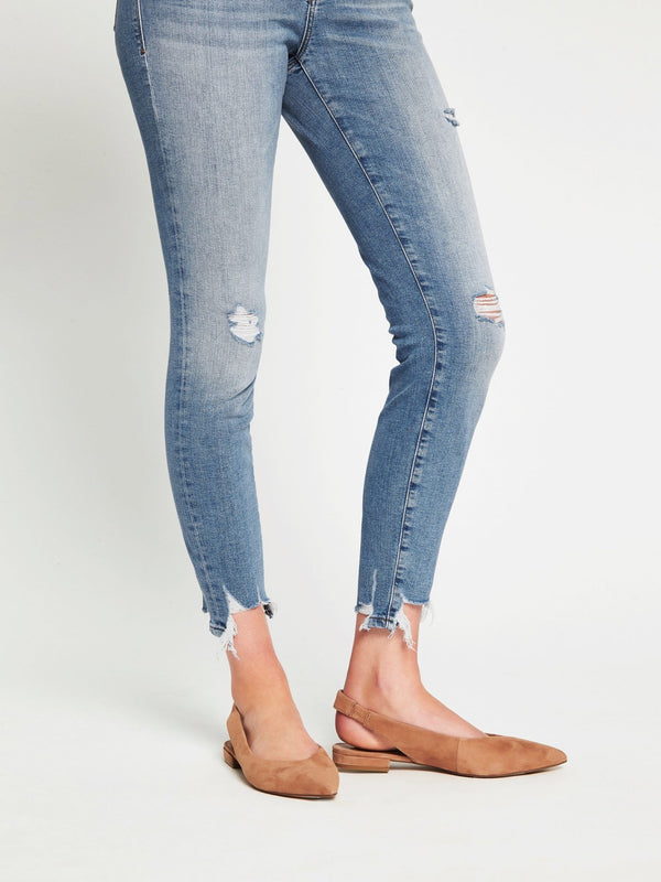 Alissa Ankle High Rise Skinny in Light Destructed Vintage - Mavi Jeans