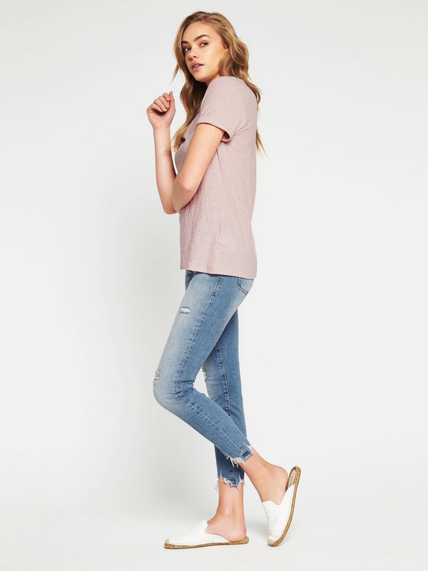 Evie Short Sleeve T-Shirt Washed Rose - Mavi Jeans