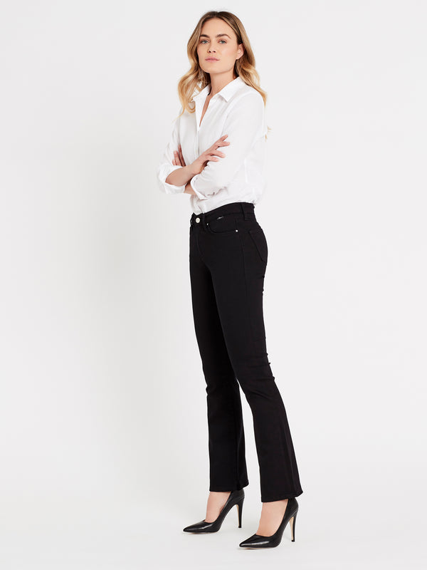 Molly Bootcut Jeans in Black Stretch - Mavi Jeans