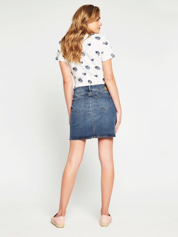 Alice Mid Rise A Line Skirt Mid Milan Stretch - Mavi Jeans
