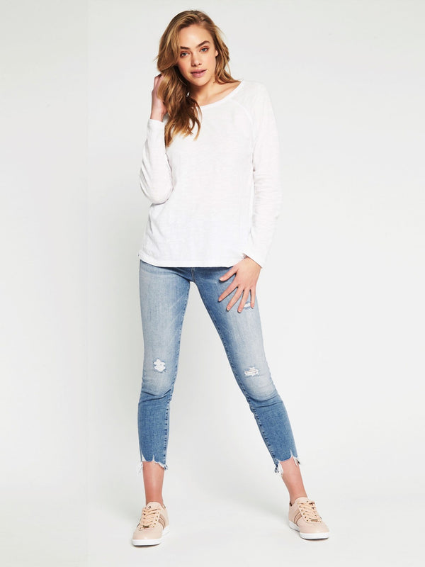 Leah Long Sleeve T-Shirt White - Mavi Jeans