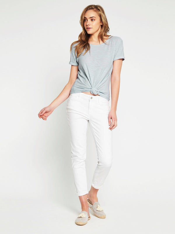 Emma Slim Boyfriend in White Stretch - Mavi Jeans