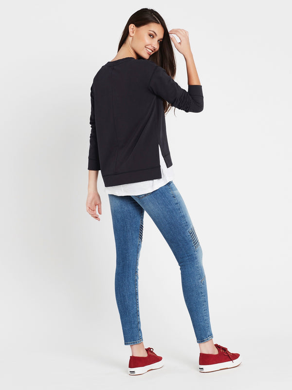 Paula Long Sleeve Sweat Midnight Large Star - Mavi Jeans