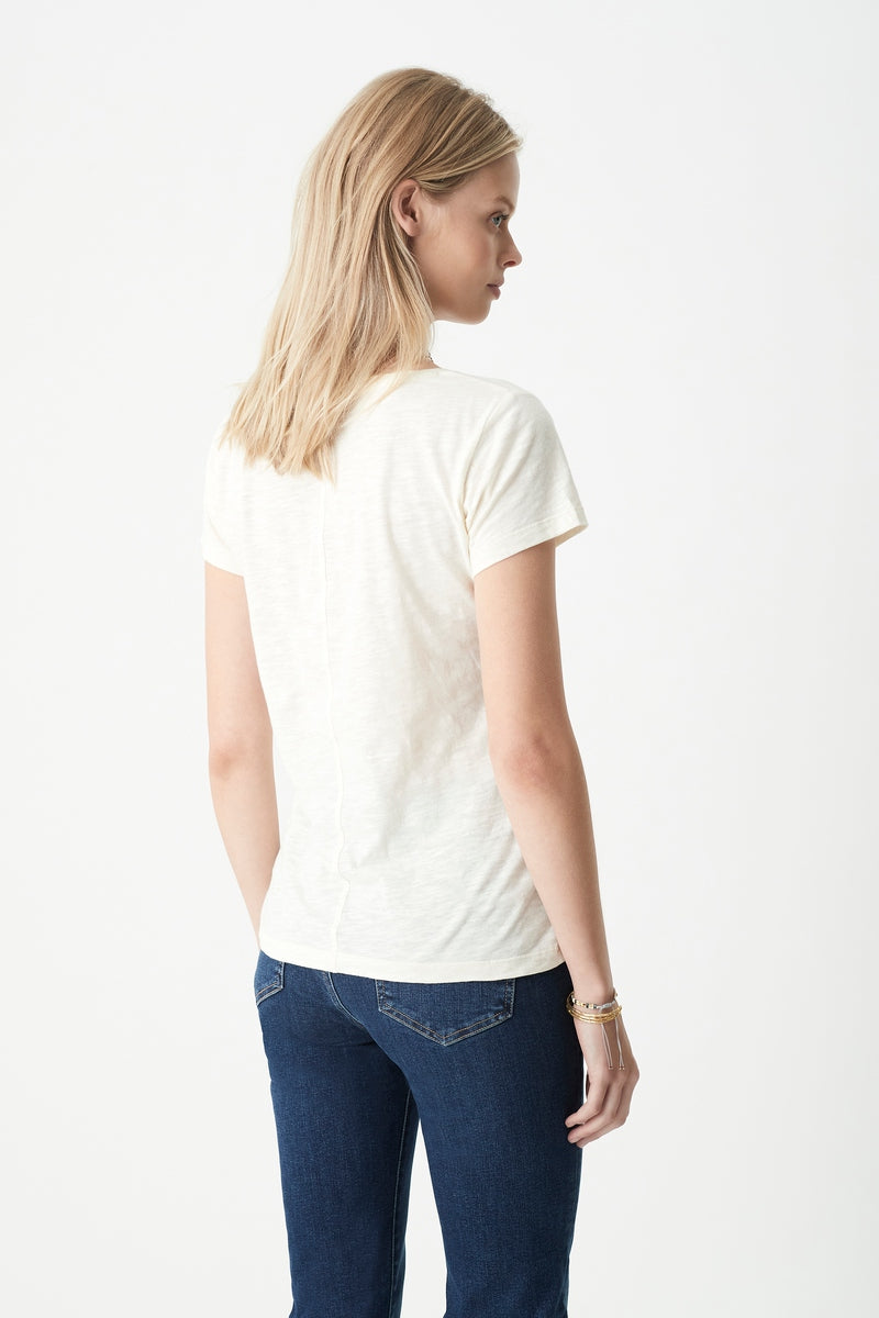 Luna V Neck T-Shirt in Lemon