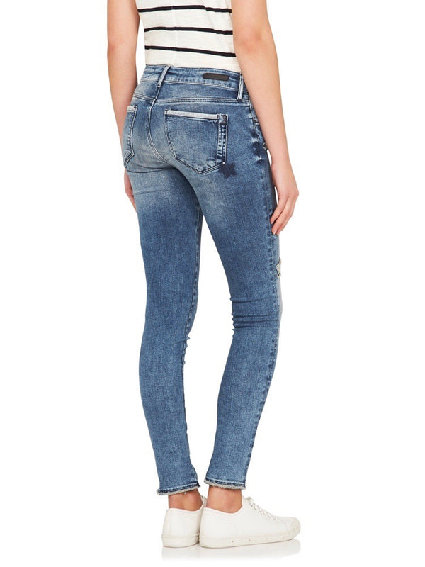 Tess High Rise Super Skinny Ankle Patchoff Star Blocking - Mavi Jeans