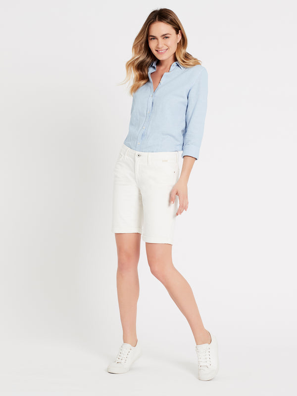 Alexis Bermuda Short in White Gold - Mavi Jeans