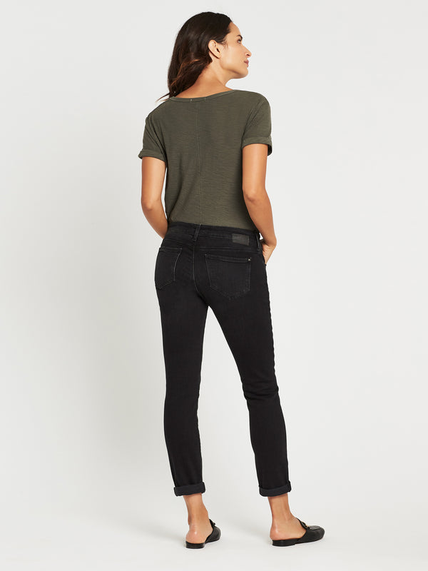 Emma Slim Boyfriend in Black Used Vintage - Mavi Jeans