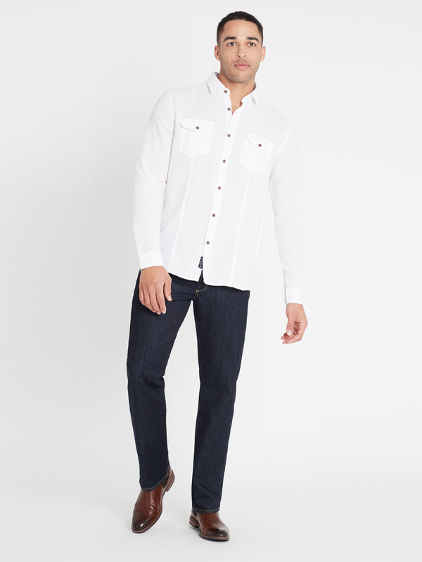 Hunter Straight Jeans in Rinse White Edge - Mavi Jeans