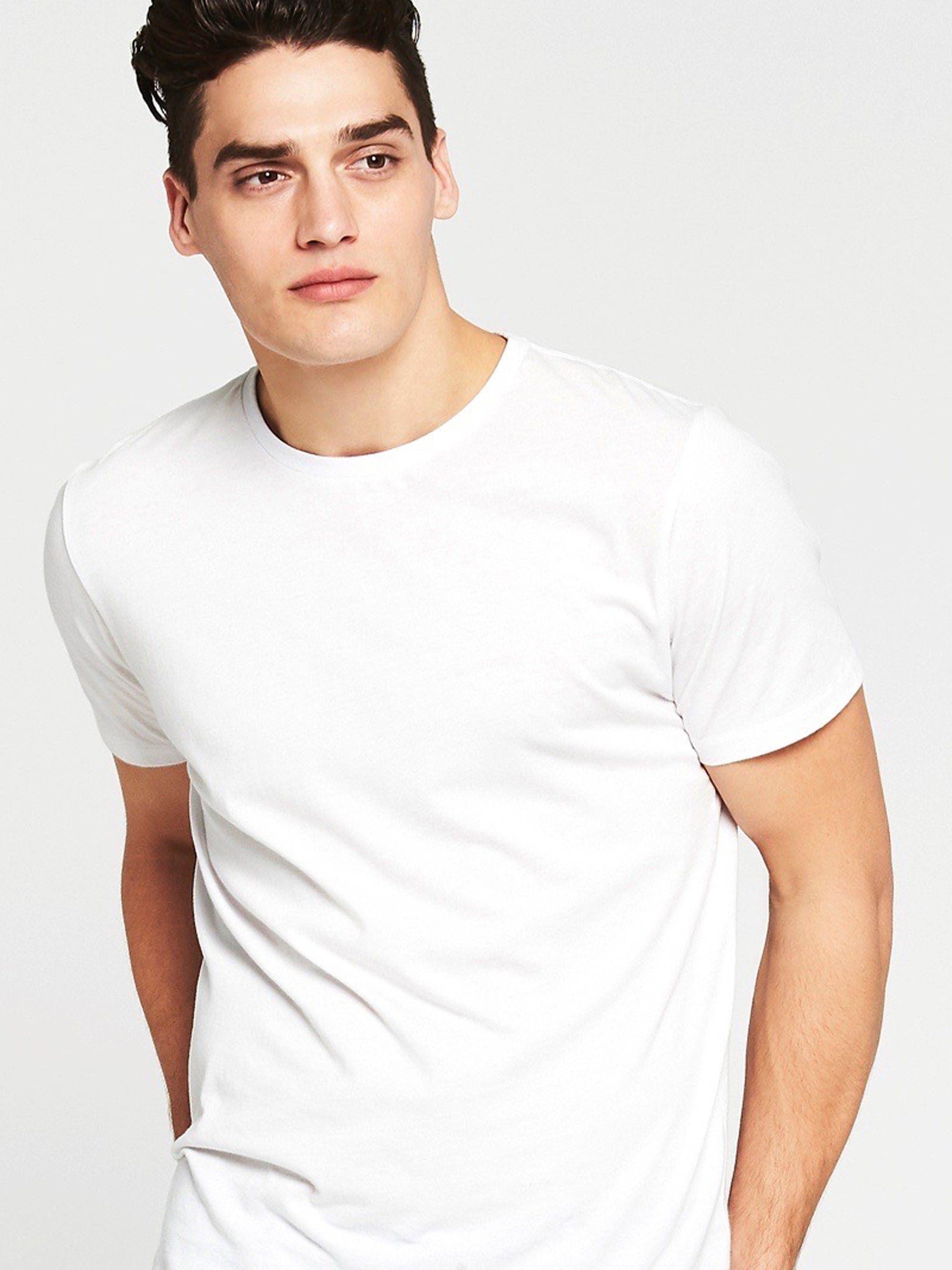 Liam Crew Neck T-Shirt in Optical White
