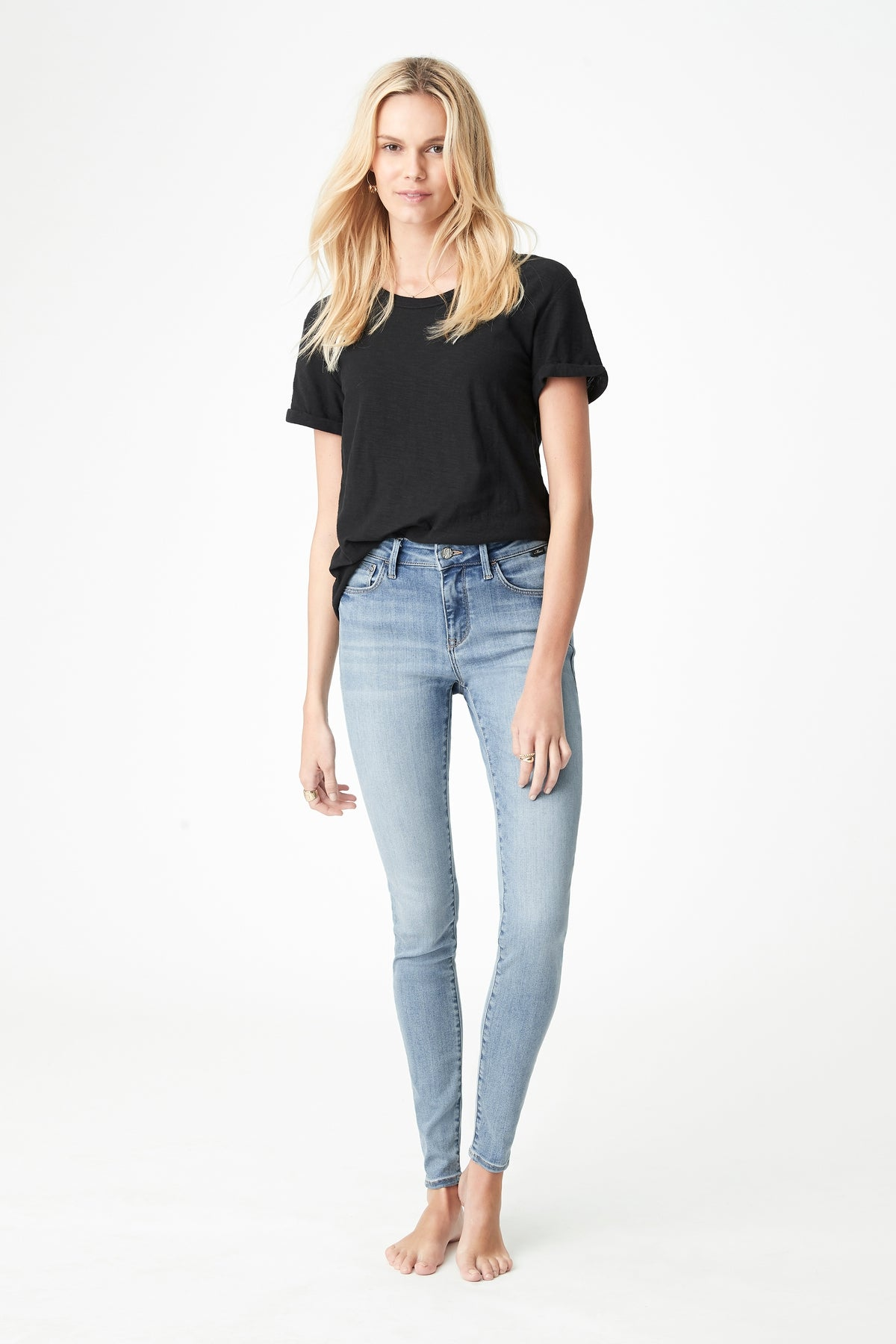 Alissa Skinny Jeans in Light Foggy Supersoft