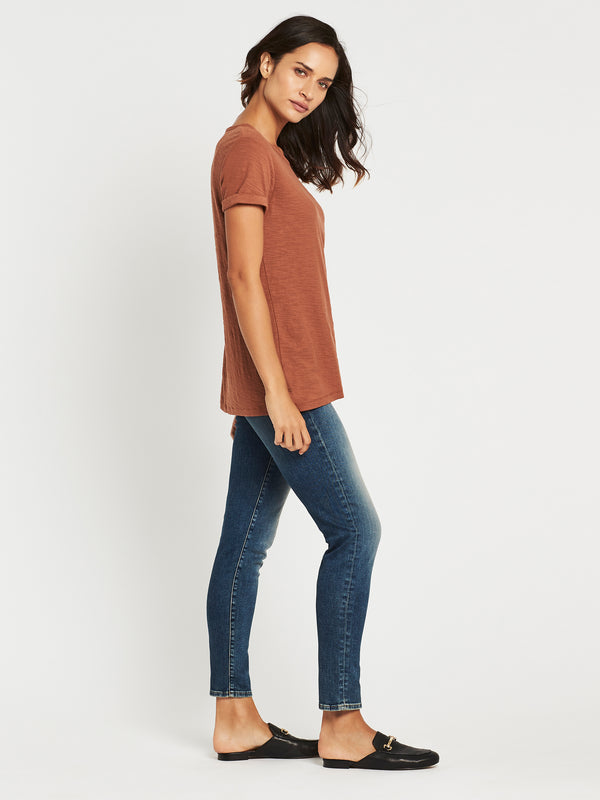 Evie Short Sleeve T-Shirt in Rust - Mavi Jeans