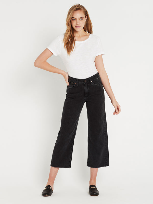 Romee Wide Crop Jeans in Smoke Vintage - Mavi Jeans