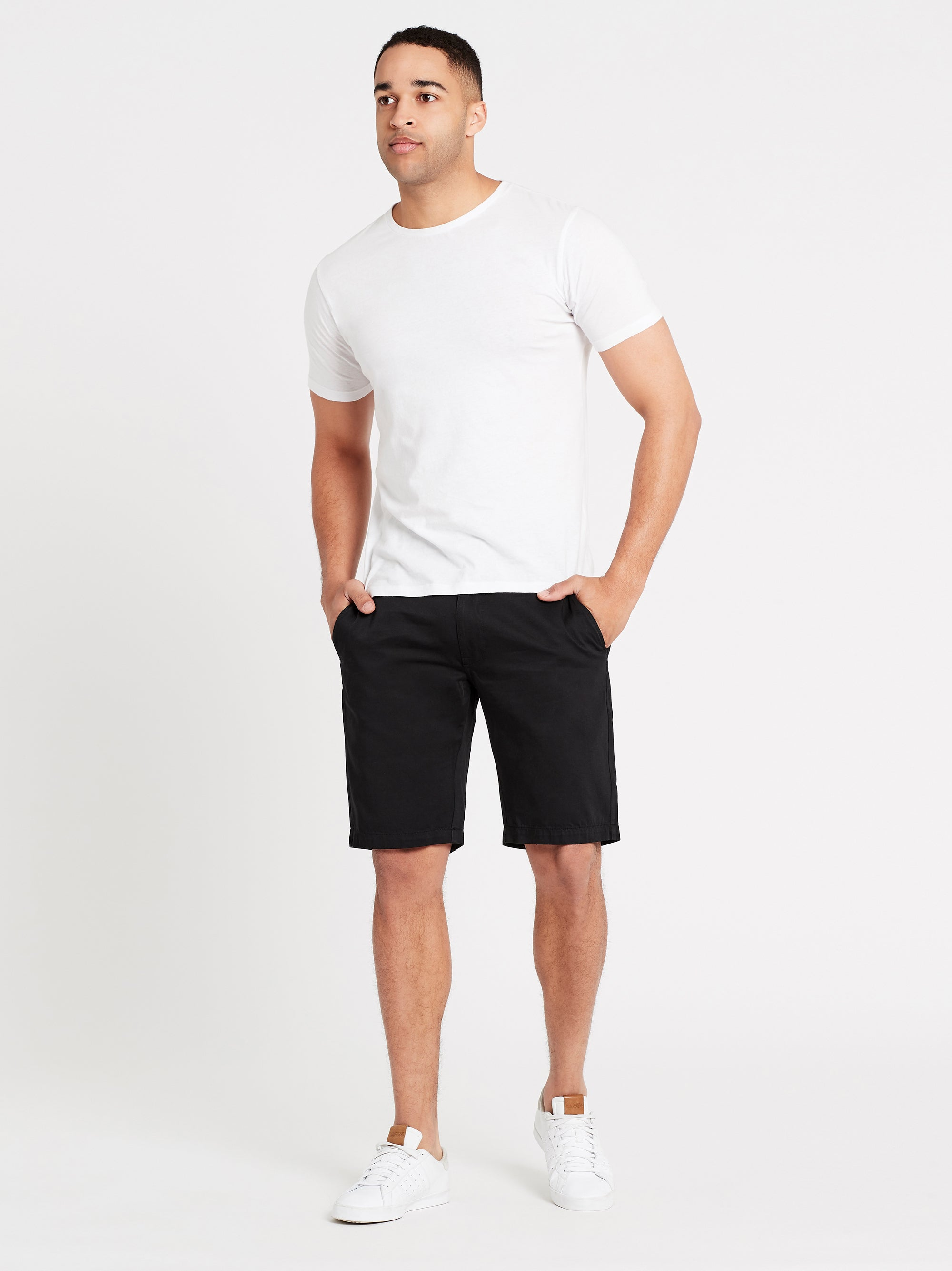 Chino Regular Fit Shorts in Black