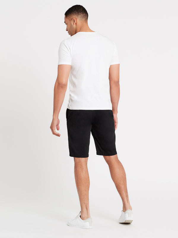 Chino Regular Fit Shorts in Black - Mavi Jeans