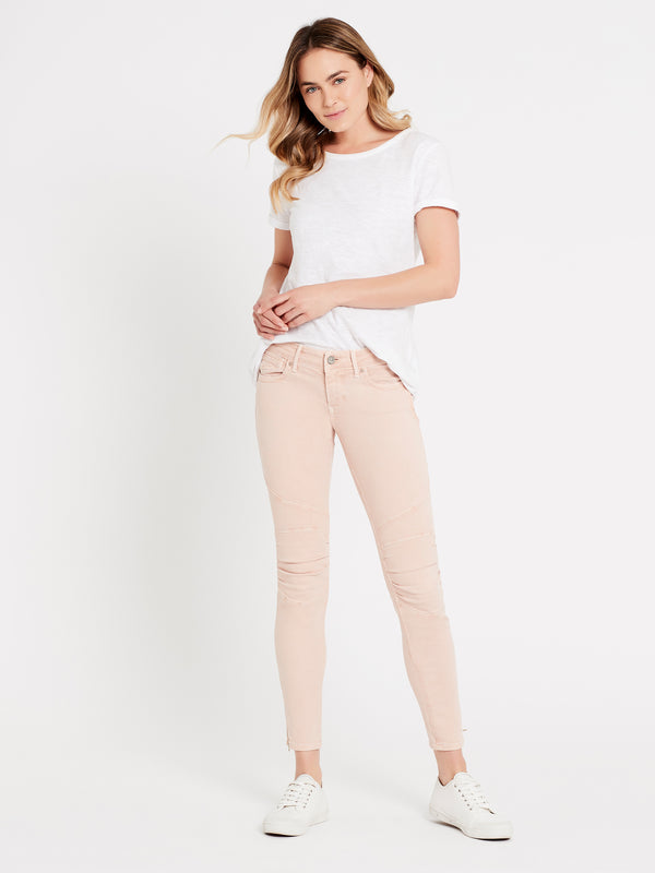 Jesy Skinny Ankle Biker Smokey Rose Washed - Mavi Jeans