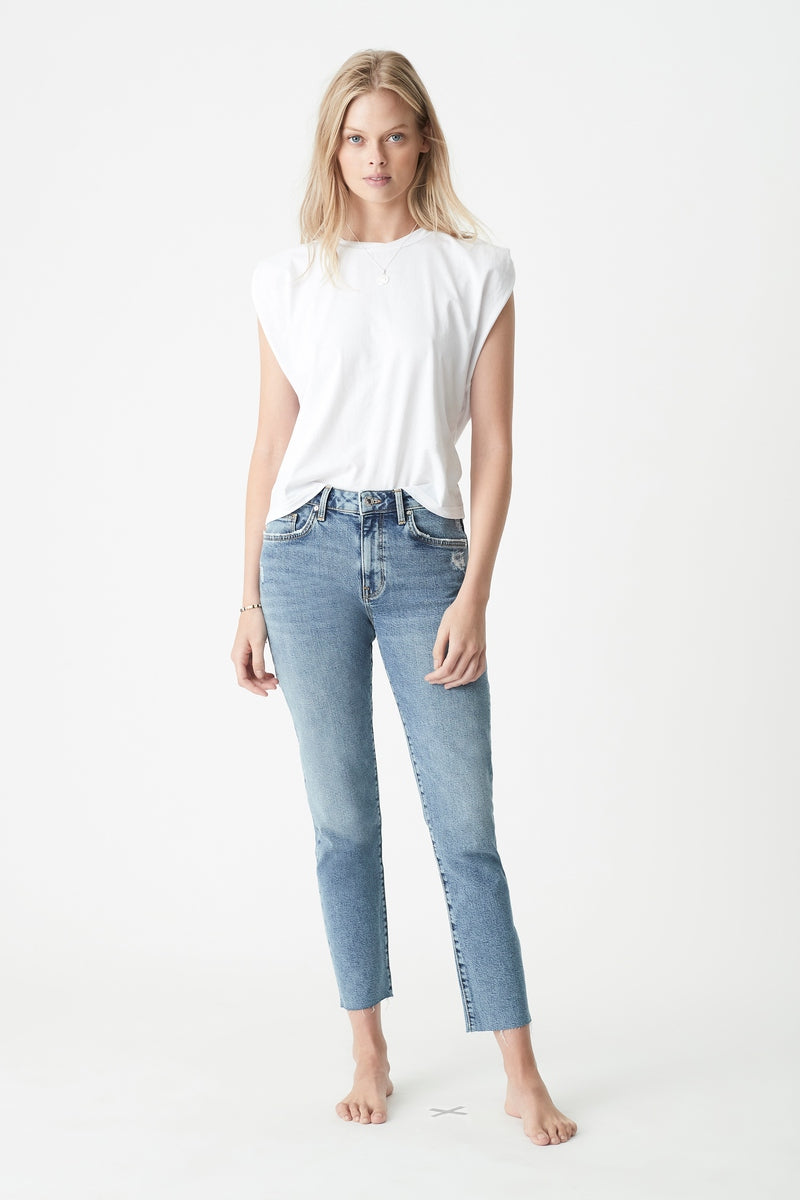 Viola Straight Jeans in Indigo Blue Denim