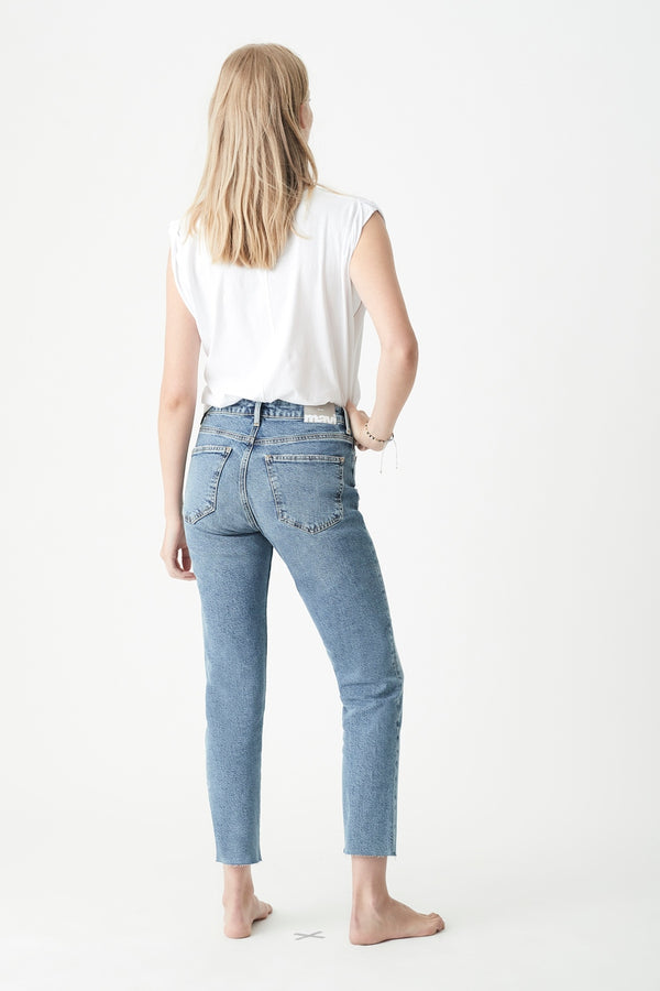 Viola Straight Jeans in Indigo Blue Denim - Mavi Jeans