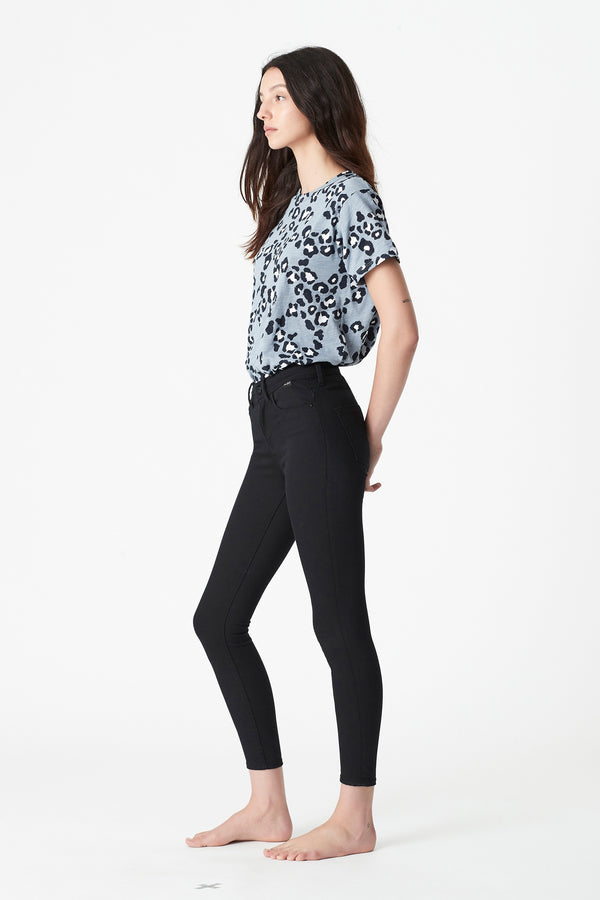 Alissa Ankle Skinny Jeans in Double Black Gold Reform - Mavi Jeans