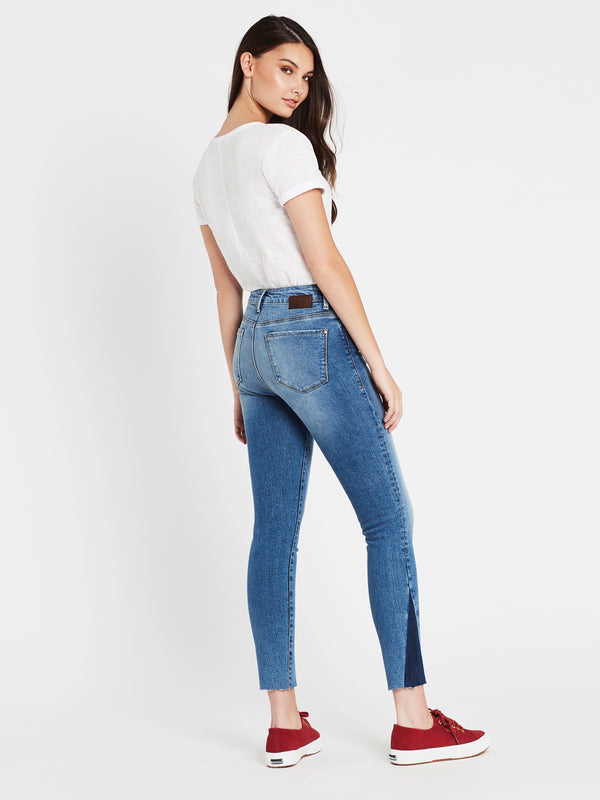 Tess Super Skinny Ankle Jeans in Indigo Blocking - Mavi Jeans
