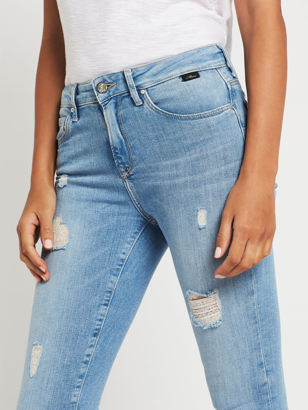 Tess Super Skinny Ankle Jeans in Light Ripped Vintage - Mavi Jeans
