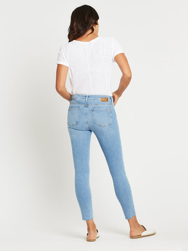 Tess Curve Super Skinny Ankle in Light Ripped Vintage - Mavi Jeans