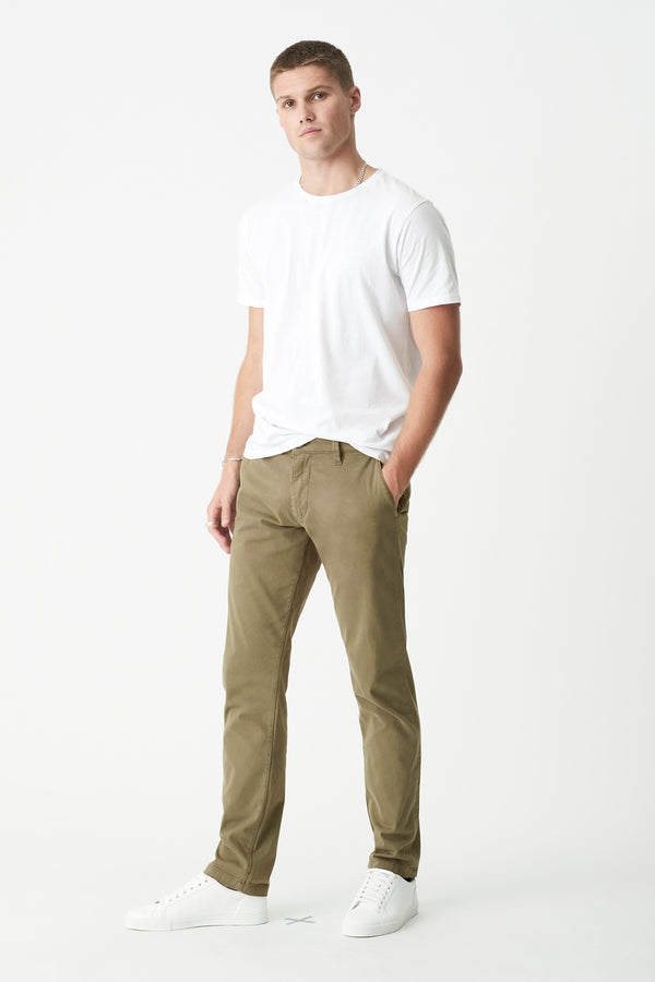 Johnny Slim Skinny Chino in Dusty Olive Twill - Mavi Jeans