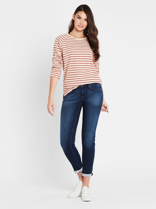 Emma Slim Boyfriend in Deep Sporty - Mavi Jeans