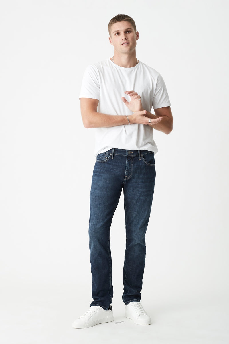 Jake Slim Skinny Jeans in Dark Brushed Organic Move