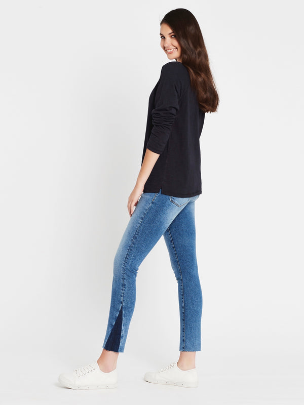 Leah Long Sleeve T-Shirt Midnight - Mavi Jeans