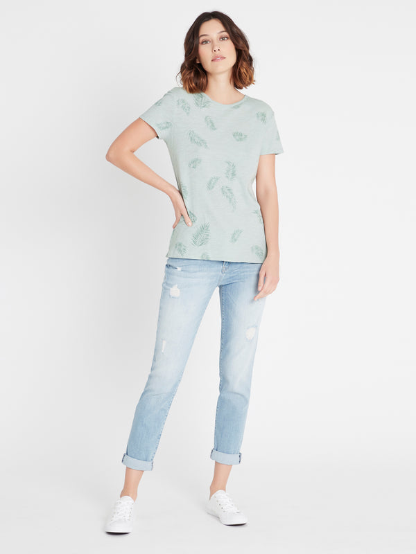 ROMY Short Sleeve T-Shirt Mint Palm - Mavi Jeans