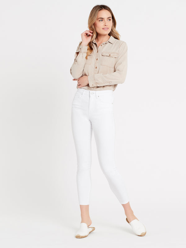 Womens Tencel Shirt in Stone - Mavi Jeans