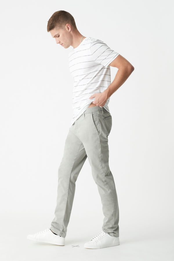 Edward Slim Straight Chino in Grey Twill - Mavi Jeans
