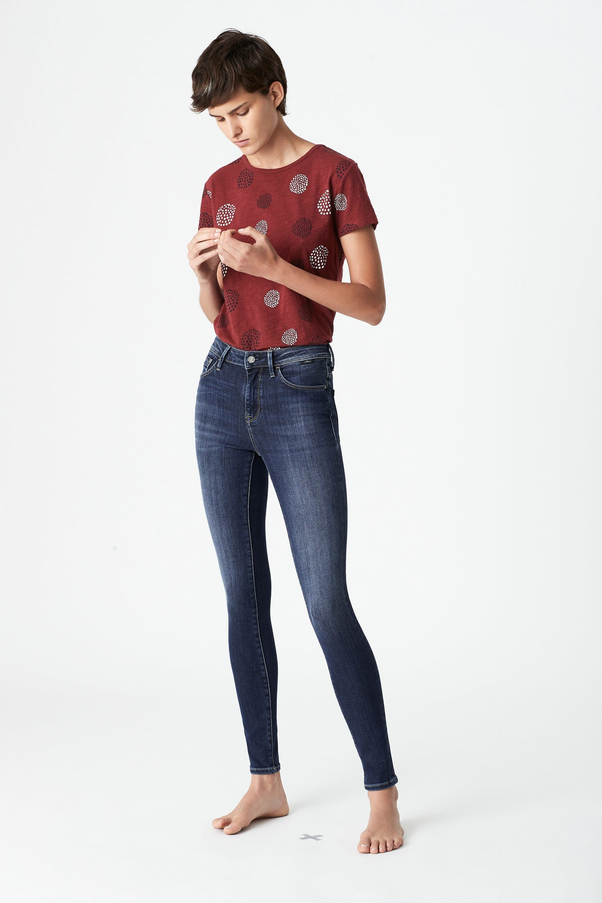 Alissa Skinny Curve Jeans in Dark Supersoft