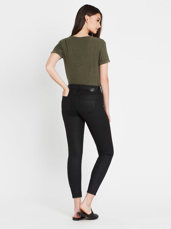 Alexa Ankle Skinny in Black Jeather - Mavi Jeans