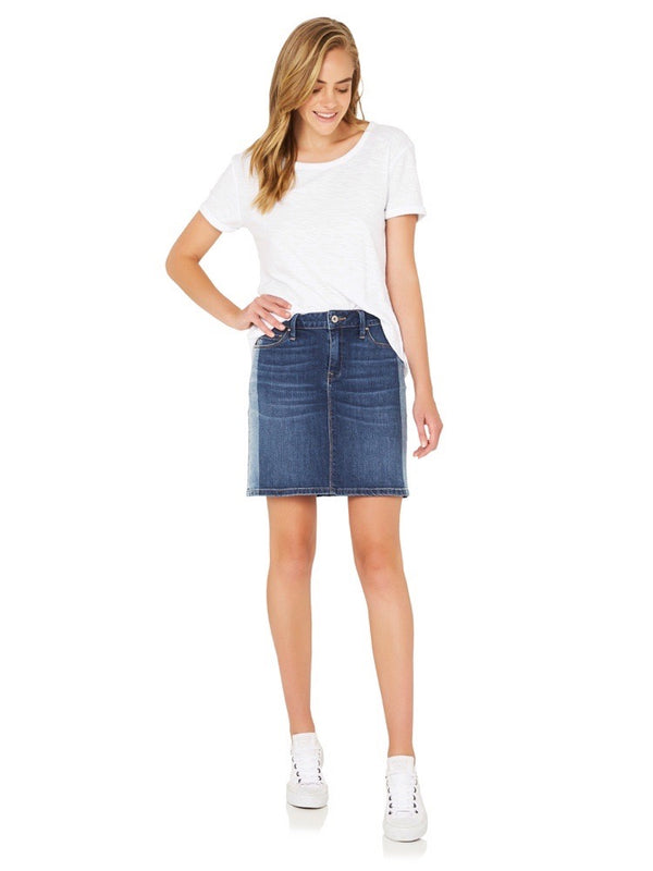 Alice Mid Rise A Line Skirt Mid Blocking - Mavi Jeans