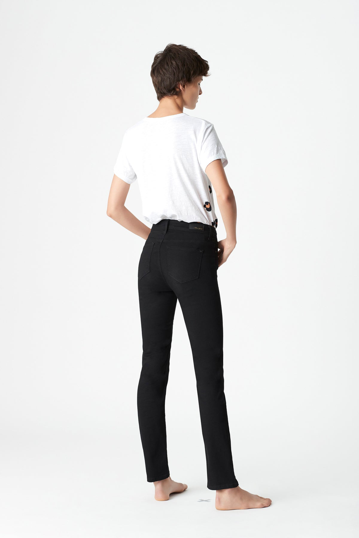 Kendra Straight Jeans in Black Gold Dream
