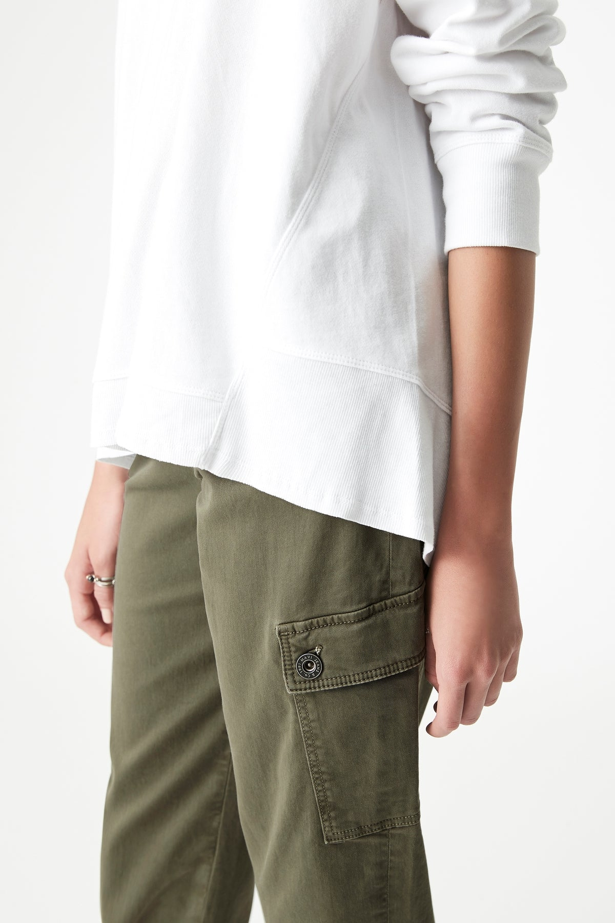 Dylan High-Low Hem Sweat in White