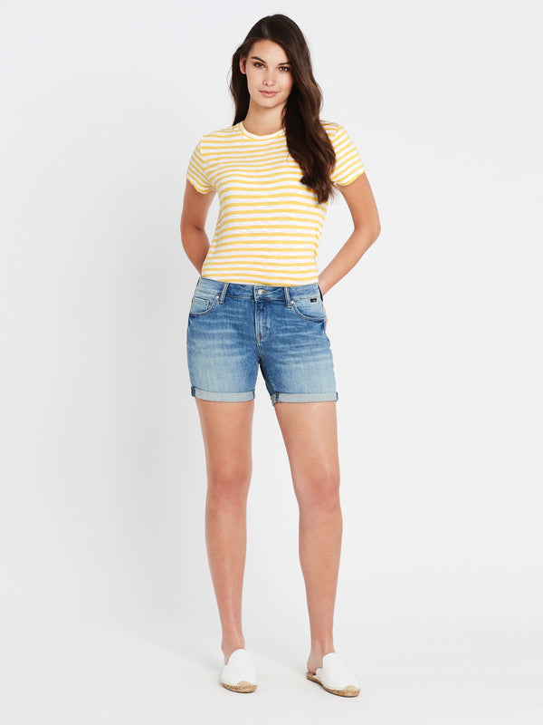 Pixie Boyfriend Shorts in Shaded Vintage - Mavi Jeans