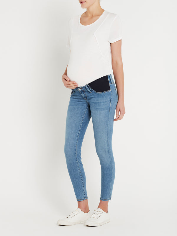 Reina Ankle Skinny Maternity Jeans in Light Brushed Super Soft - Mavi Jeans