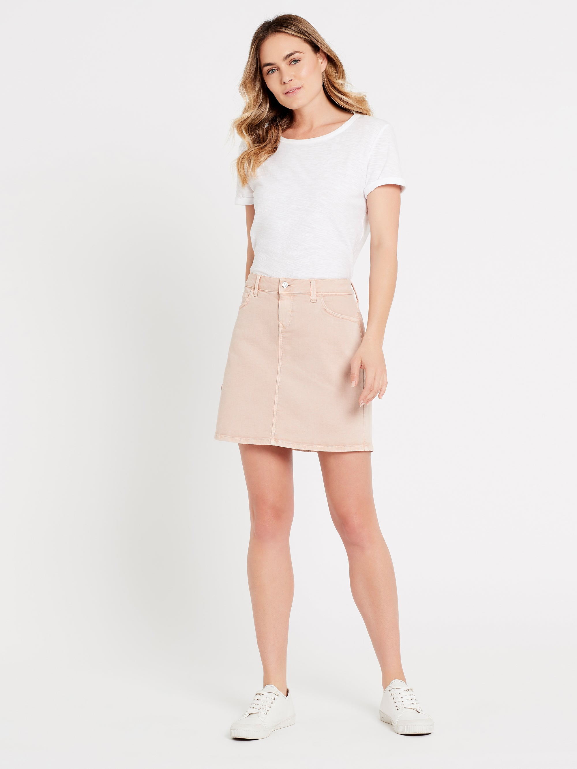 Alice A Line Skirt in Smokey Rose