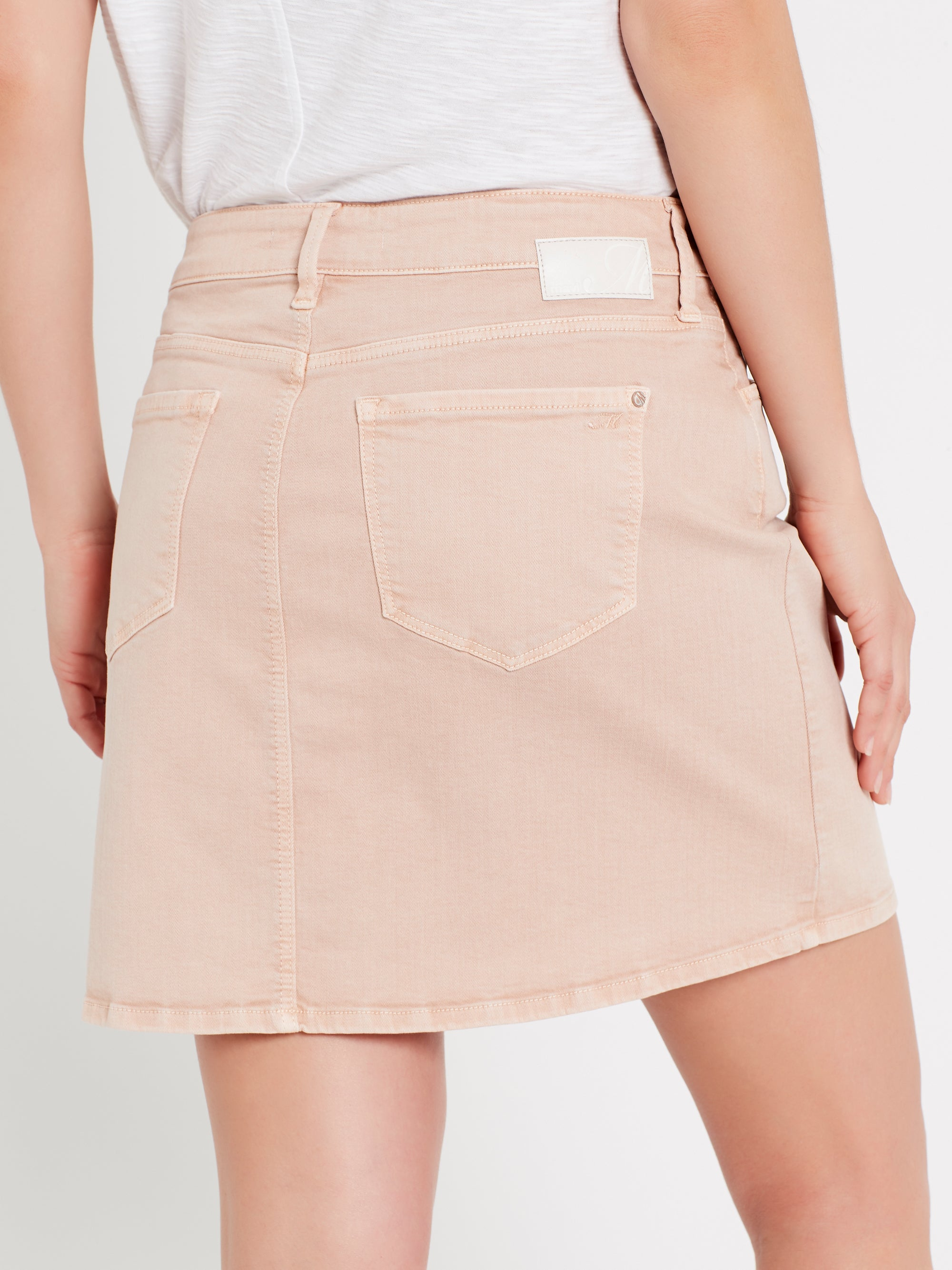 Alice A Line Denim Skirt in Smokey Rose