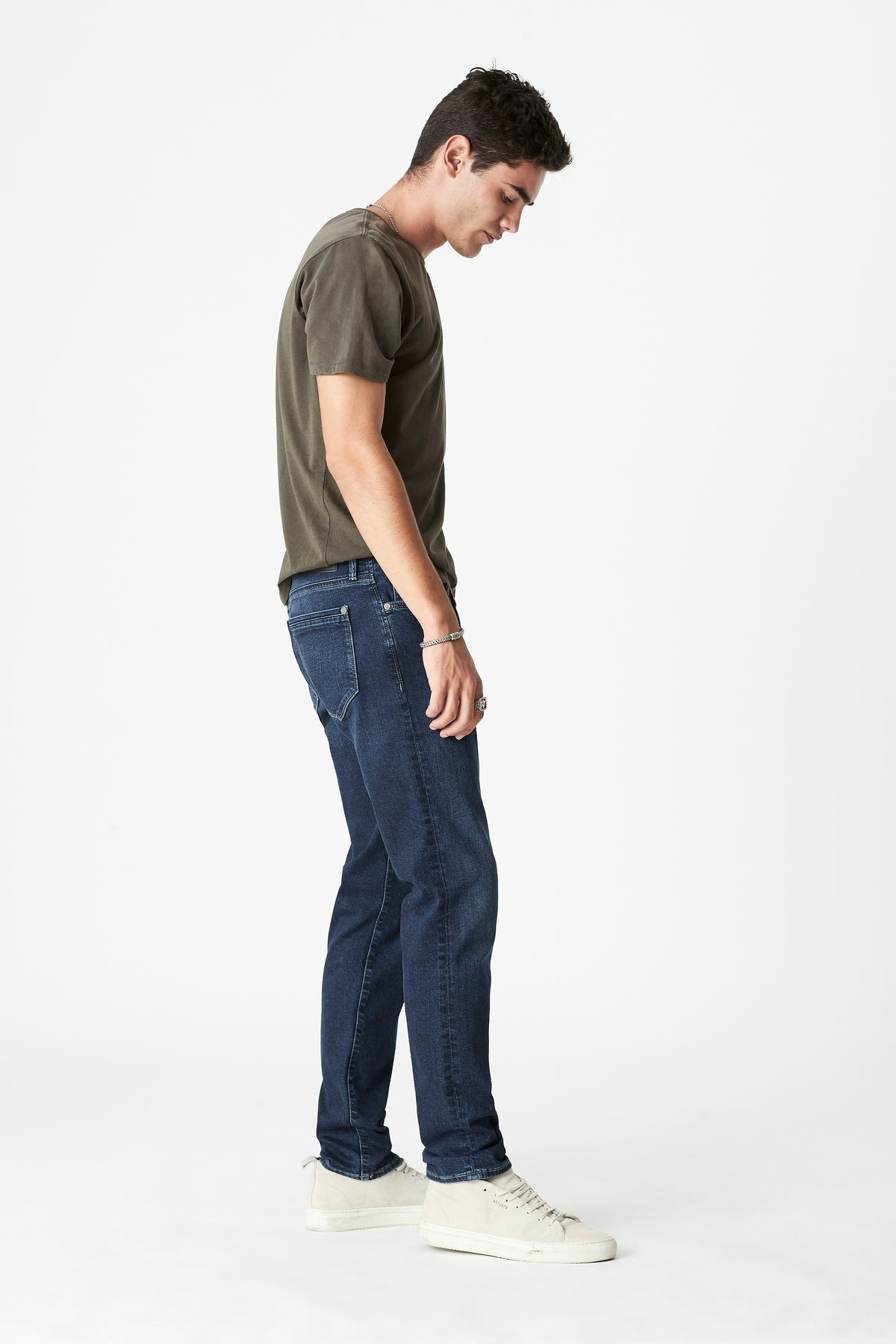 Marcus Slim Straight Jeans in Deep Mavi